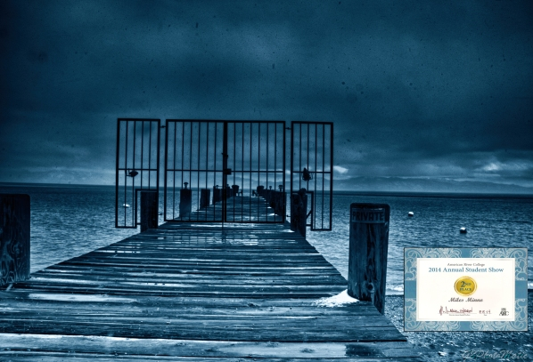 Here is a Lake Tahoe pier of a Rolling Storm passing through the sierras mid March of 2014 winter.